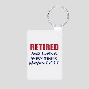 Senior Moments - Retired Aluminum Photo Keychain