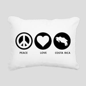 Peace Love Costa Rica Rectangular Canvas Pillow
