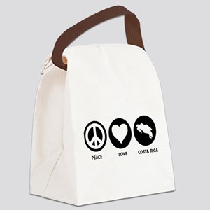 Peace Love Costa Rica Canvas Lunch Bag