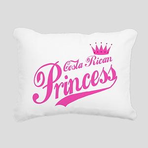 Costa Rican Princess Rectangular Canvas Pillow