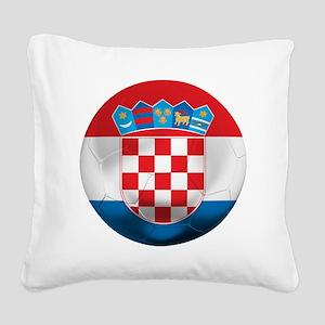 Croatia Football Square Canvas Pillow