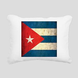 Grunge Cuba Flag Rectangular Canvas Pillow