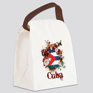 Butterfly Cuba Canvas Lunch Bag
