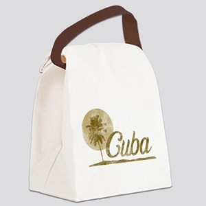 Palm Tree Cuba Canvas Lunch Bag