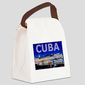 Vintage Cuba Art Canvas Lunch Bag