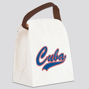 Retro Cuba Canvas Lunch Bag