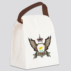 Cyprus Emblem Canvas Lunch Bag