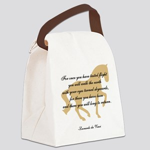 flight da Vinci horse copy Canvas Lunch Bag
