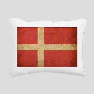 Vintage Denmark Flag Rectangular Canvas Pillow