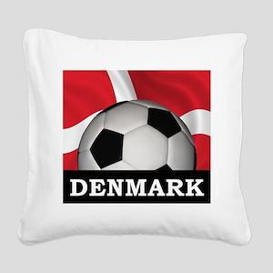 Denmark Football Square Canvas Pillow