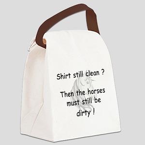 horse still dirty w horse head Canvas Lunch Ba