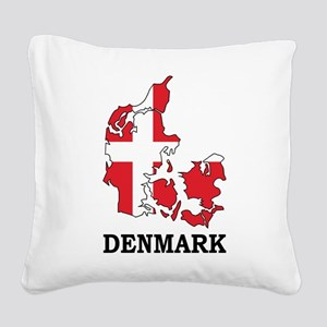 Denmark Map Square Canvas Pillow