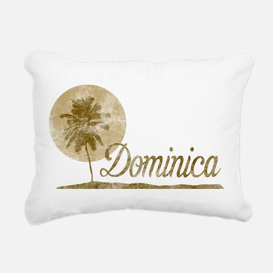 Palm Tree Dominica Rectangular Canvas Pillow