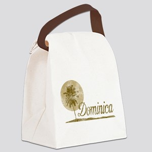 Palm Tree Dominica Canvas Lunch Bag