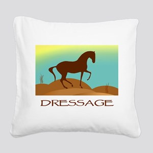 desert dressage text2 Square Canvas Pillow