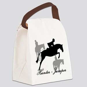 Hunter Jumper Trio Script Canvas Lunch Bag