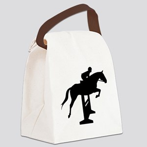 Hunter Jumper Over Fences Canvas Lunch Bag