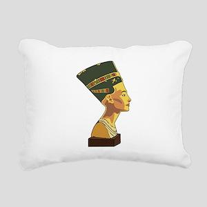 Nefertiti Rectangular Canvas Pillow