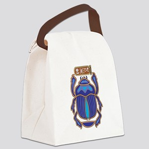 Egyptian Scarab Canvas Lunch Bag