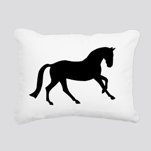 canter black Rectangular Canvas Pillow