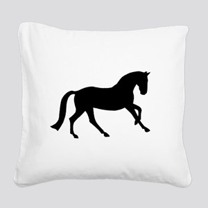canter black Square Canvas Pillow
