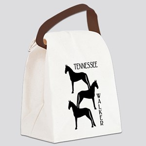 three tennessee walkers txt Canvas Lunch Bag