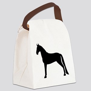 tennessee walking horse white Canvas Lunch Bag