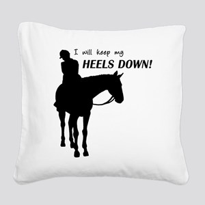 Keep My Heels Down Square Canvas Pillow