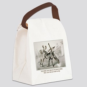 dead horse trotter Canvas Lunch Bag