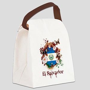 Butterfly El Salvador Canvas Lunch Bag
