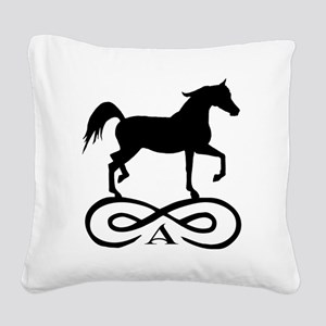 infinity arabian black Square Canvas Pillow