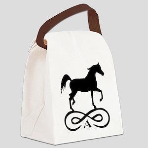 infinity arabian black Canvas Lunch Bag
