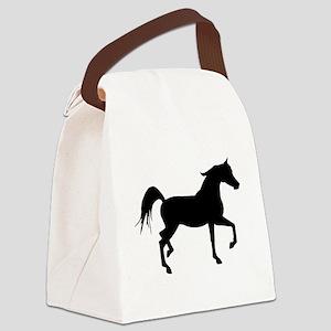 Arabian Horse Silhouette Canvas Lunch Bag