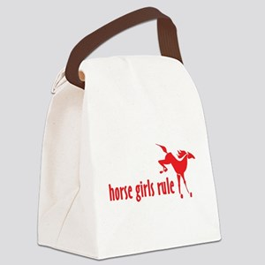 horse girls rule Canvas Lunch Bag