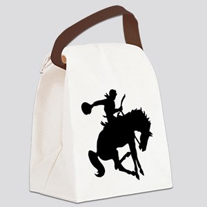 2-cowboy bronc one Canvas Lunch Bag