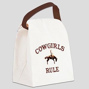cowgirls rule copy Canvas Lunch Bag