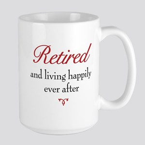 Happily Retired 15 oz Ceramic Large Mug