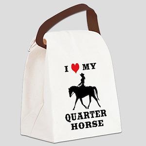 I Heart My Quarter Horse Canvas Lunch Bag
