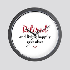 Happily Retired Wall Clock