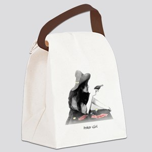 poker girl Canvas Lunch Bag