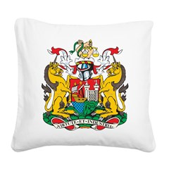 Bristol Coat Of Arms Square Canvas Pillow
