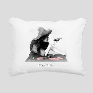 Revolver Girl Rectangular Canvas Pillow
