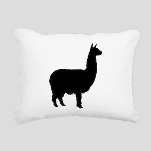 alpaca 22 black Rectangular Canvas Pillow