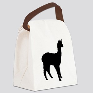 4-3-alpaca (2) silhouette Canvas Lunch Bag