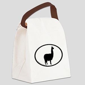alpaca oval Canvas Lunch Bag