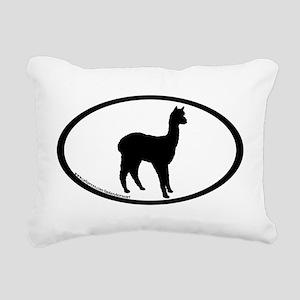 standing alpaca oval Rectangular Canvas Pillow