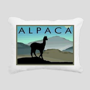 blue hills alpaca wd Rectangular Canvas Pillow