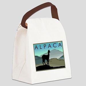 blue hills alpaca wd Canvas Lunch Bag
