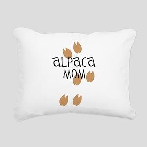 Alpaca Mom Rectangular Canvas Pillow