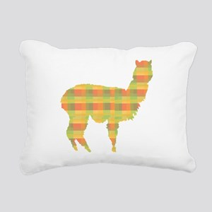 alpaca plaid Rectangular Canvas Pillow